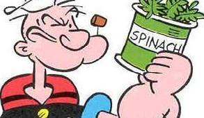 Το σπανάκι δυναμώνει τους μυς